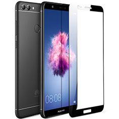 Huawei Enjoy 7S用強化ガラス フル液晶保護フィルム F04 ファーウェイ ブラック
