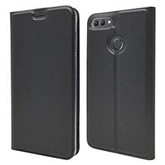 Huawei Enjoy 8 Plus用手帳型 レザーケース スタンド カバー L04 ファーウェイ ブラック