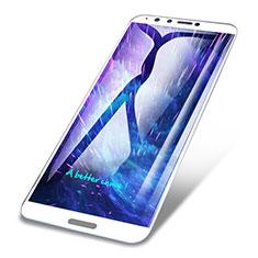 Huawei Enjoy 8 Plus用強化ガラス フル液晶保護フィルム F02 ファーウェイ ホワイト