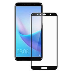 Huawei Enjoy 8e用強化ガラス フル液晶保護フィルム ファーウェイ ブラック