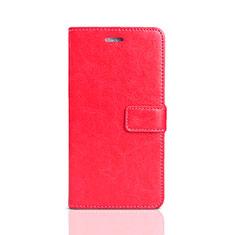 Huawei Enjoy 8e Lite用手帳型 レザーケース スタンド カバー ファーウェイ レッド