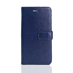 Huawei Enjoy 8e Lite用手帳型 レザーケース スタンド カバー ファーウェイ ネイビー