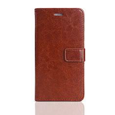 Huawei Enjoy 8e Lite用手帳型 レザーケース スタンド カバー ファーウェイ ブラウン