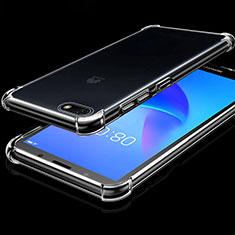 Huawei Enjoy 8e Lite用極薄ソフトケース シリコンケース 耐衝撃 全面保護 クリア透明 H01 ファーウェイ クリア