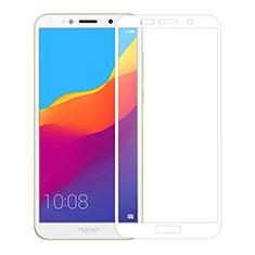 Huawei Enjoy 8e Lite用強化ガラス フル液晶保護フィルム ファーウェイ ホワイト