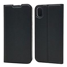 Huawei Enjoy 8S用手帳型 レザーケース スタンド カバー L01 ファーウェイ ブラック