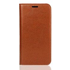 Huawei Enjoy 8S用手帳型 レザーケース スタンド カバー U01 ファーウェイ オレンジ