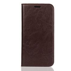 Huawei Enjoy 8S用手帳型 レザーケース スタンド カバー U01 ファーウェイ ブラウン