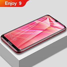 Huawei Enjoy 9用強化ガラス フル液晶保護フィルム F02 ファーウェイ ブラック