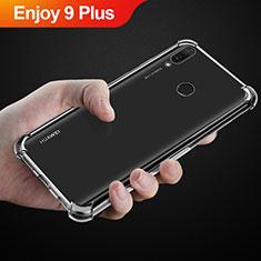 Huawei Enjoy 9 Plus用極薄ソフトケース シリコンケース 耐衝撃 全面保護 クリア透明 カバー ファーウェイ クリア