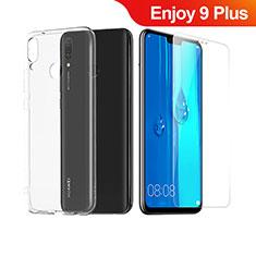 Huawei Enjoy 9 Plus用極薄ソフトケース シリコンケース 耐衝撃 全面保護 クリア透明 アンド液晶保護フィルム ファーウェイ クリア