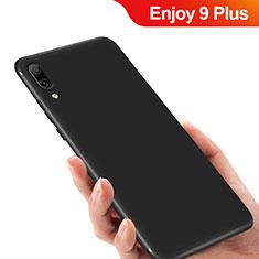 Huawei Enjoy 9 Plus用極薄ソフトケース シリコンケース 耐衝撃 全面保護 ファーウェイ ブラック