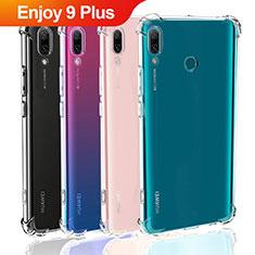 Huawei Enjoy 9 Plus用極薄ソフトケース シリコンケース 耐衝撃 全面保護 クリア透明 T05 ファーウェイ クリア