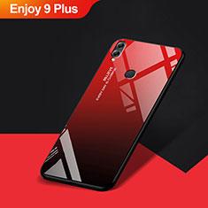 Huawei Enjoy 9 Plus用シリコンケース ソフトタッチラバー 鏡面 ファーウェイ レッド