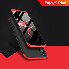 Huawei Enjoy 9 Plus用ハードケース プラスチック 質感もマット 前面と背面 360度 フルカバー ファーウェイ レッド・ブラック