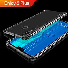 Huawei Enjoy 9 Plus用極薄ソフトケース シリコンケース 耐衝撃 全面保護 クリア透明 H01 ファーウェイ ブラック