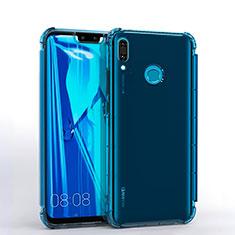 Huawei Enjoy 9 Plus用極薄ソフトケース シリコンケース 耐衝撃 全面保護 クリア透明 S01 ファーウェイ ネイビー