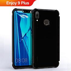 Huawei Enjoy 9 Plus用極薄ソフトケース シリコンケース 耐衝撃 全面保護 クリア透明 S01 ファーウェイ ブラック