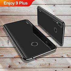 Huawei Enjoy 9 Plus用極薄ソフトケース シリコンケース 耐衝撃 全面保護 クリア透明 H02 ファーウェイ ブラック