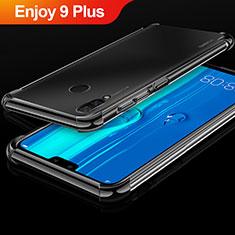 Huawei Enjoy 9 Plus用極薄ソフトケース シリコンケース 耐衝撃 全面保護 クリア透明 H03 ファーウェイ ブラック