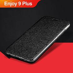 Huawei Enjoy 9 Plus用手帳型 レザーケース スタンド カバー L01 ファーウェイ ブラック