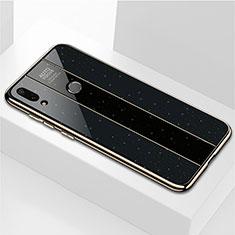 Huawei Enjoy 9 Plus用ハイブリットバンパーケース プラスチック 鏡面 カバー M04 ファーウェイ ブラック