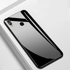 Huawei Enjoy 9 Plus用ハイブリットバンパーケース プラスチック 鏡面 カバー M05 ファーウェイ ブラック