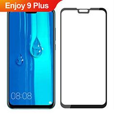 Huawei Enjoy 9 Plus用強化ガラス フル液晶保護フィルム ファーウェイ ブラック
