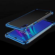 Huawei Enjoy 9e用極薄ソフトケース シリコンケース 耐衝撃 全面保護 クリア透明 H01 ファーウェイ ネイビー