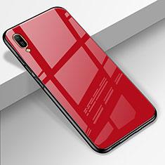 Huawei Enjoy 9e用ハイブリットバンパーケース プラスチック 鏡面 カバー ファーウェイ レッド