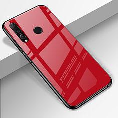 Huawei Enjoy 9s用ハイブリットバンパーケース プラスチック 鏡面 カバー ファーウェイ レッド