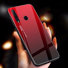 Huawei Enjoy 9s用ハイブリットバンパーケース プラスチック 鏡面 虹 グラデーション 勾配色 カバー ファーウェイ レッド
