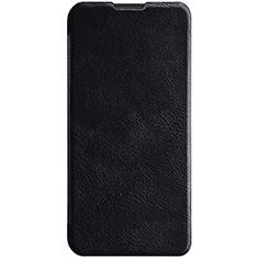 Huawei Enjoy 9s用手帳型 レザーケース スタンド カバー ファーウェイ ブラック