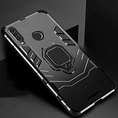 Huawei Enjoy 9s用ハイブリットバンパーケース スタンド プラスチック 兼シリコーン カバー マグネット式 ファーウェイ ブラック