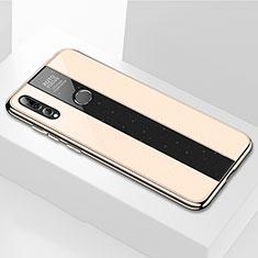 Huawei Enjoy 9s用ハイブリットバンパーケース プラスチック 鏡面 カバー M02 ファーウェイ ゴールド
