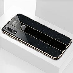 Huawei Enjoy 9s用ハイブリットバンパーケース プラスチック 鏡面 カバー M02 ファーウェイ ブラック