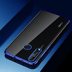 Huawei Enjoy 9s用極薄ソフトケース シリコンケース 耐衝撃 全面保護 クリア透明 H03 ファーウェイ ネイビー