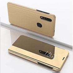 Huawei Enjoy 9s用手帳型 レザーケース スタンド 鏡面 カバー ファーウェイ ゴールド