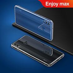 Huawei Enjoy Max用極薄ソフトケース シリコンケース 耐衝撃 全面保護 クリア透明 T03 ファーウェイ クリア