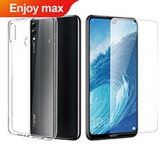Huawei Enjoy Max用極薄ソフトケース シリコンケース 耐衝撃 全面保護 クリア透明 アンド液晶保護フィルム ファーウェイ クリア