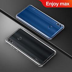 Huawei Enjoy Max用極薄ソフトケース シリコンケース 耐衝撃 全面保護 クリア透明 T05 ファーウェイ クリア
