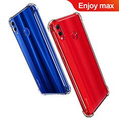 Huawei Enjoy Max用極薄ソフトケース シリコンケース 耐衝撃 全面保護 クリア透明 T07 ファーウェイ クリア