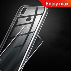Huawei Enjoy Max用極薄ソフトケース シリコンケース 耐衝撃 全面保護 クリア透明 T09 ファーウェイ クリア