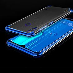 Huawei Enjoy Max用極薄ソフトケース シリコンケース 耐衝撃 全面保護 クリア透明 H01 ファーウェイ ネイビー