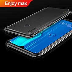 Huawei Enjoy Max用極薄ソフトケース シリコンケース 耐衝撃 全面保護 クリア透明 H01 ファーウェイ ブラック