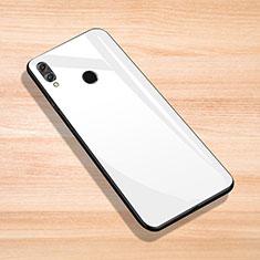Huawei Enjoy Max用ハイブリットバンパーケース プラスチック 鏡面 カバー ファーウェイ ホワイト