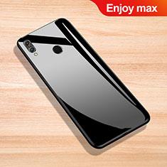 Huawei Enjoy Max用ハイブリットバンパーケース プラスチック 鏡面 カバー ファーウェイ ブラック