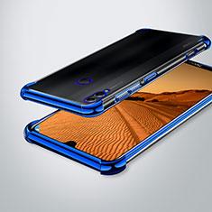 Huawei Enjoy Max用極薄ソフトケース シリコンケース 耐衝撃 全面保護 クリア透明 H02 ファーウェイ ネイビー