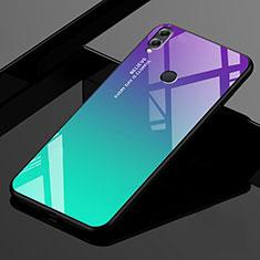 Huawei Enjoy Max用ハイブリットバンパーケース プラスチック 鏡面 虹 グラデーション 勾配色 カバー ファーウェイ グリーン