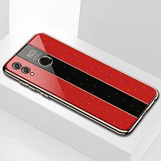 Huawei Enjoy Max用ハイブリットバンパーケース プラスチック 鏡面 カバー M01 ファーウェイ レッド